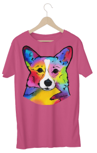 Colorful Corgi Breed Design on a Shirt