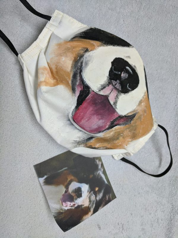 Dog Inspired Custom Hand Painted Face Mask