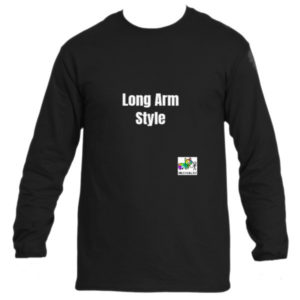 Long Arm Style - black T-Shirt