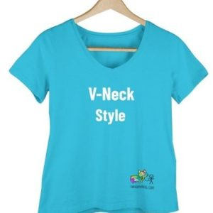 V-Neck Style T-Shirt - Color turquoise