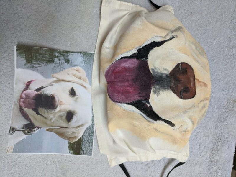 Yellow Lab inspired Face Mask