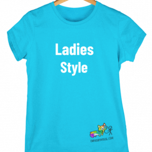 Ladies cut Style T-Shirt - turquoise - Dog Design Selectionn